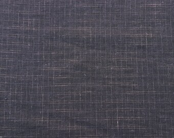 "Hemp Woven Jacquard Fabric Black and Dusty Pink Box Design 57""W 9/15"