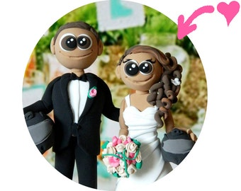 Wedding Cake Toppers - motorcycle helmets cake topper, motorcycle helmets bride and groom, Motorcycle cake topper, CUSTOM cake topper,