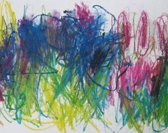 Klee GICLÉE KUNSTDRUCK 11 x 8 Frühlingsgrün tief Rosa, blau, grün, Säure