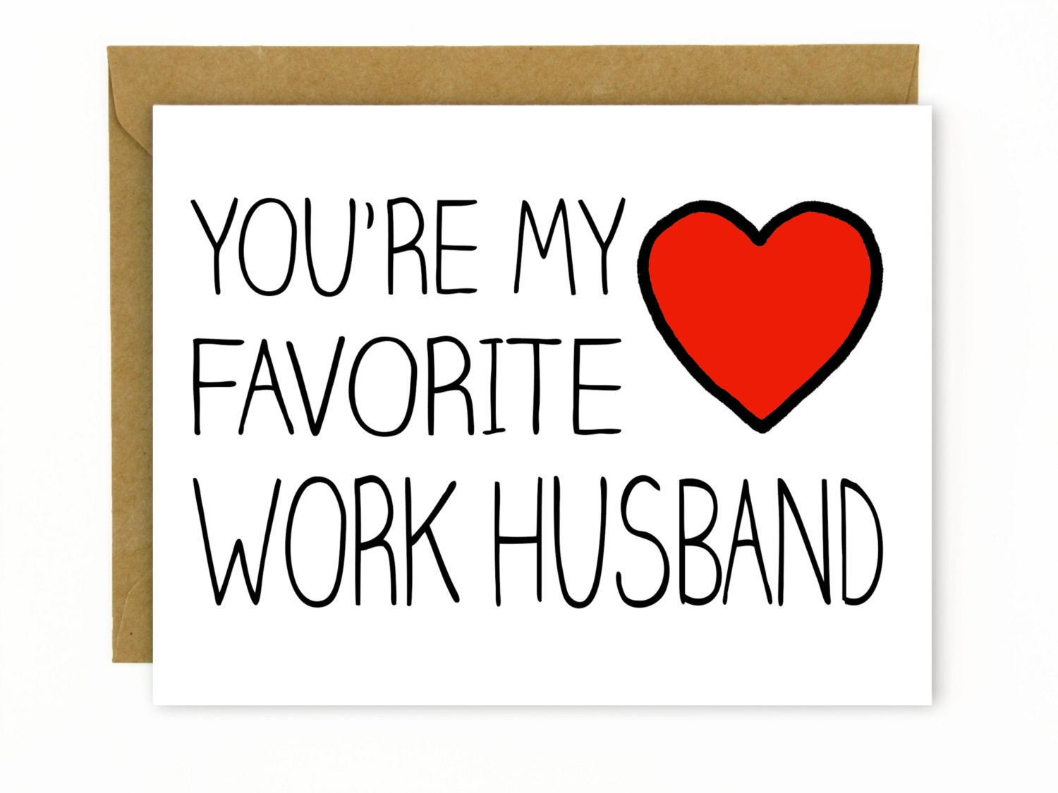 Coworker Gift  Card for Coworker Favorite Work Husband