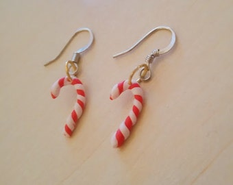 Clay Christmas earrings - barley sugar