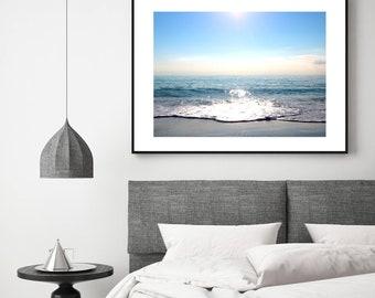 Ocean Photo Download - Ocean Wall Art, Teal Ocean Print, Digital Download, Ocean Printable, Ocean Photograph, Beach House Decor, Teal