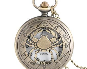 Cancer  Pocket Watch/Pocket Watch/Pocket Watches/Cool Pocket Watch/Cute Pocket Watch/Awesome Pocket Watch/Antique Pocket Watch