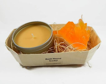 Citrine Crystal Soap & Candle Gift Set