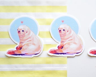 Seal Pup Vinyl Sticker