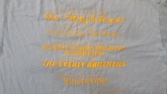 VTG 80s REO Speedwagon Everly Brothers Waylon Jennings T Shirt Superfest 1988 ikwPxOVq