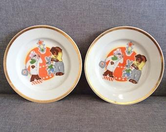 Soviet kids porcelain ... & Soviet kids plate | Etsy