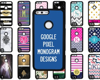 Choose from 70 Monogram / Personalized / Customizable Designs Google Pixel Rubber Phone Case Google Pixel XL Custom Phone Case