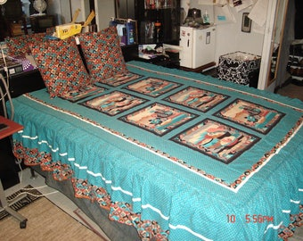 Southwestern  Native-American bedspread  queen/full size very nice!