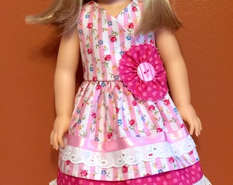 """Pink dress and hat for your 14.5"""" doll"""