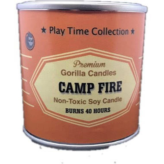 Campfire fire place scented candle