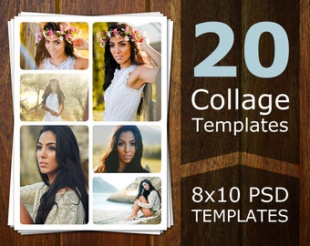 Photoshop Collage Templates - Photo Collage Templates - Storyboard Templates - PSD Templates - Photography Photo Templates Flyer CT002
