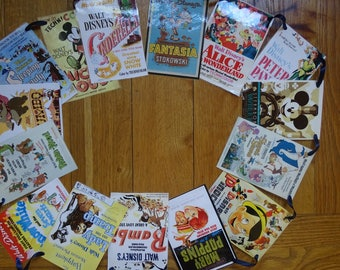 Vintage Disney Movie Posters Bunting