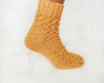 NEW Hand Knitted socks. Handmade. Wool PAN 50/50