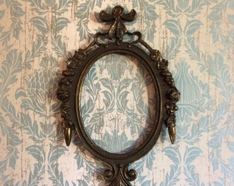Vintage Frame Ornate Metal Italy Picture Frame