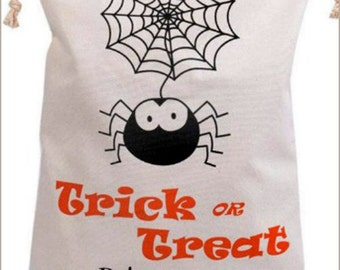 CLEARANCE  Halloween Bags- Halloween Bag - Trick-or-Treat bag - Halloween Sack - Embroidered Halloween Bag - Halloween Gift - Idea