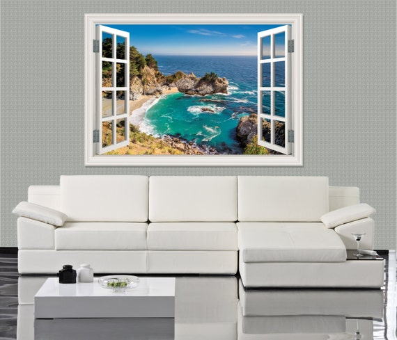 3D Window Decal Big Sur by ArtVint