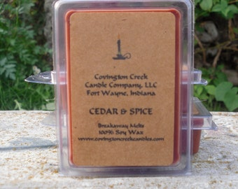 Cedar & Spice Pure Soy 3 or 6 ounce Breakaway Melt