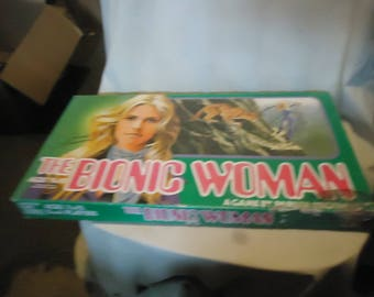 Vintage 1976 The Bionic Woman Board Game Jaime Sommers Parker Brothers Universal, collectable