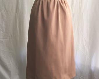 1970's Evan-Picone Petites Khaki A line skirt