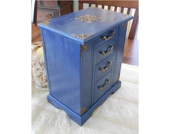 Blue jewelry box Etsy