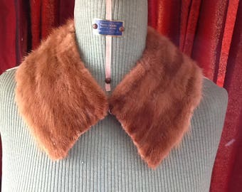 Vintage fur collar mid brown fur