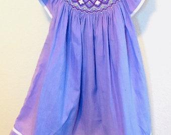 SHIPS NEXT DAY!!! Purple Smocked Dress, Lilac Smocked Dress, Easter Smocked Dress, Girls Smocked Dress