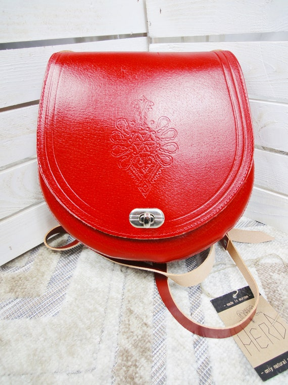Real Leather Bag. Durable Leather Handbag. Red Natural Leather Shoulder Bag. Genuine Leather Handbags.
