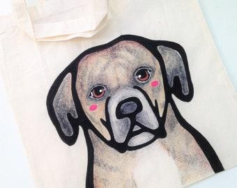 Full Detail Custom Pet Tote - Custom Dog Portrait - Personalized Dog Tote Bag - Pet Moms - Gift for Pet Lovers