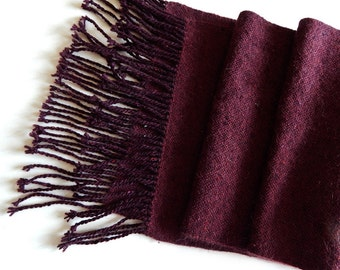 Handwoven scarf, womans woven scarf, burgundy scarf, marsala scarf, tweed scarf, angora wrap scarf, winter scarf, handwoven wrap