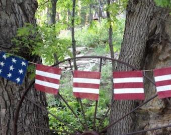 American Flag Bunting Banner
