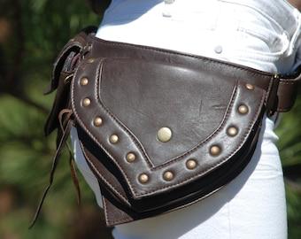Belt Bag, Leather Hip Bag, Burning Man Bag, Bohemian Belt Bag, Boho Hip Bag, Festival Belt Bag, Waist Bag Women, Leather Fanny Pack Women