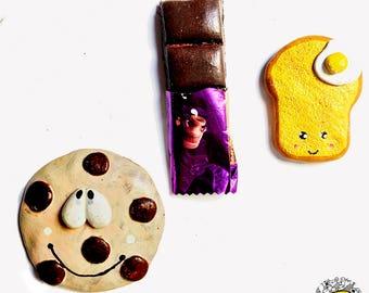 Badhuche Foodies Fridge Magnet - Set of 3