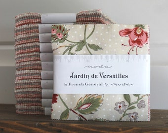 "Jardin de Versailles by French General for Moda Charm Pack 5"" Squares"