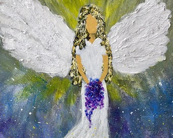 The Angel of Help ORIGINAL ACRYLIC PAINTING Fine Art