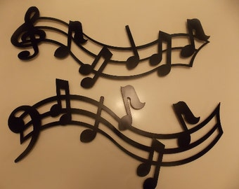 6' Metal Crafted Music Notes Wall Art Hanging Home Decor Custom Design Music Lover