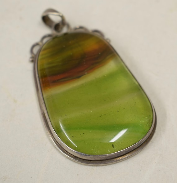Pendant Sterling Silver Tourmaline Handcrafted Pendant Chain Gift for Her Gift for Him Green Jewelry Necklace
