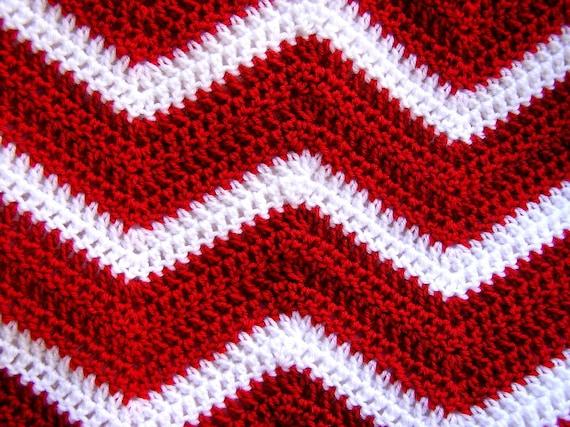 Chevron Zick Zack Baby Decke afghanische wickeln häkeln