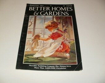 Better Homes and Gardens Magazine February 1933 - Scrapbooking, Paper Ephemera, Vintage Ads