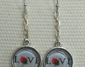 Love Rose Earrings Handmade in Brooklyn