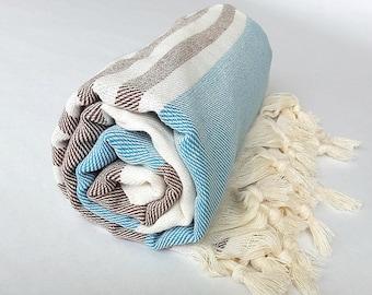 Bohemian Yoga, Gym, Spa, Pilates Towels, Eco Friendly, Organic Turkish Towels, Cotton, Large Size