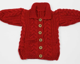Child's Jacket with Collar & Pockets