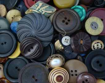 50 Vintage Button Lot