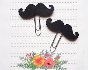 Planner clip set Moustache