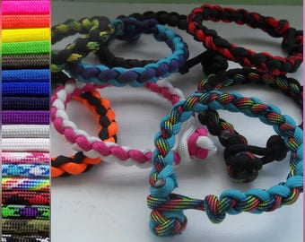 Braided Loop and Knot Paracord Bracelets