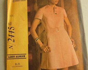 Vintage McCalls Designer Collection Pattern N2445  Larry Aldrich Misses Size 16 Factory Fold