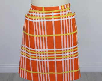Vintage 1970's Haymaker Plaid Polyester Mini Skirt