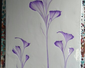 Purple flower painting I did 20x17