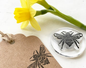 Bumble Bee Clear Rubber Stamp - Bumblebee Stamp - HoneyBee - Bumble Bee - Insect - Bee Stamp - Stamp Store - Photopolymer Stamp - Stampingit