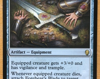 Forebear's Blade, Limited edition MTG Artist proof, By Scott Murphy